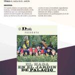 Programa festivalCambaleo EL HADA EN EL JARDIN, obra de teatro cartel Manzanares El Real